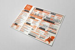 Bram&deVlam Reclamebureau Eindhoven Ribsfactory Menukaart grafisch ontwerp