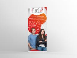 Bram&deVlam reclamebureau Eindhoven rollup banner PlatOOlab grafisch ontwerp