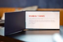 bramendevlam-reclamebureau-eindhoven-Taphuys-Krant-Menu-grafisch-ontwerp